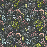 Watercolor vector abstract floral pattern Royalty Free Stock Image