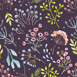 Watercolor vector abstract floral pattern Stock Photography