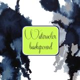 Watercolor vector background. Hand drawing. Stock Images