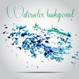 Watercolor vector background. Hand drawing. Stock Image