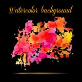 Watercolor vector background. Hand drawing. Royalty Free Stock Photography
