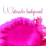 Watercolor vector background. Hand drawing. Royalty Free Stock Photo