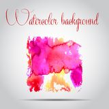 Watercolor vector background. Hand drawing. Royalty Free Stock Images