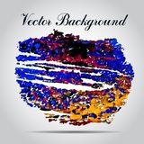 Watercolor vector background. Hand drawing. Stock Photography