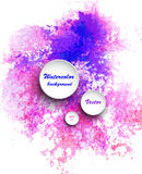 Watercolor vector background Royalty Free Stock Images