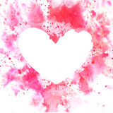 Watercolor vector background with heart Royalty Free Stock Image