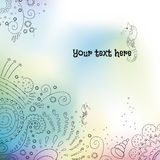 Watercolor vector background with sea ornament and place for text Stock Photography