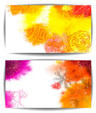 Watercolor vector banner, hand drawn flowers Stock Photography