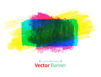 Watercolor vector banner Stock Photography