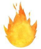 Watercolor vector bonfire Royalty Free Stock Images