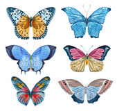 Watercolor vector butterflies Royalty Free Stock Photography