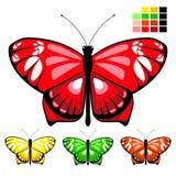 Vector butterfly set 10 vector illustration