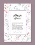 Watercolor vector card with place for your text Royalty Free Stock Image