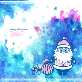 Watercolor vector Christmas  Santa illustration Stock Photos