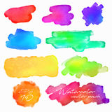 Watercolor Vector Elements for Design Royalty Free Stock Images