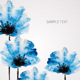 Watercolor vector flower Royalty Free Stock Images