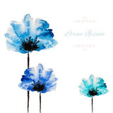 Watercolor vector flower Stock Images