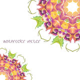 Watercolor Vector Flowers. Vector Watercolour Flowers. Mandala Stock Photo