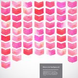 Watercolor vector geometric chevron illustration Royalty Free Stock Photos