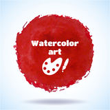 Watercolor vector handmade background. Royalty Free Stock Images