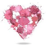 Watercolor vector heart Royalty Free Stock Photos