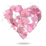 Watercolor vector heart Royalty Free Stock Photos