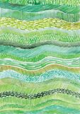Watercolor vector lines, waves, Green watercolor vector textures Stock Image