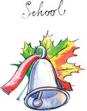 Watercolor vector school bell Royalty Free Stock Photography
