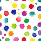 Watercolor vector seamless pattern with splashes Royalty Free Stock Image