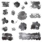 Watercolor vector splashes Stock Photos