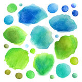 Watercolor vector stains Royalty Free Stock Photo