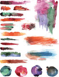 Watercolor vector strokes Stock Image