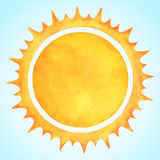 Watercolor vector sun with spiked crown