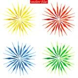 Watercolor Vector Sunburst Flower Royalty Free Stock Photography