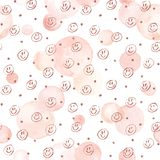 Watercolor circles pattern Royalty Free Stock Photography