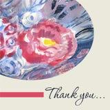 Watercolor Vector Thank You Card Template Royalty Free Stock Photos