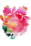 Watercolor vector vintage oak leaves Royalty Free Stock Photography