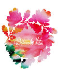 Watercolor vector vintage wreath under the text of oak leaves Royalty Free Stock Images