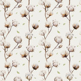 Watercolor vintage background with twigs and cotton flowers boho Royalty Free Stock Images