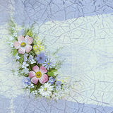 Watercolor vintage floral background Stock Image