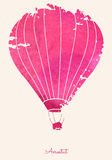 Watercolor_vintage_hot_air_balloon_Celebration_festive_backgroun Stock Image