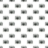 Watercolor vintage photo camera seamless pattern isolated on white background. Design for print,wrapping paper. Watercolor vintage photo camera seamless pattern Stock Image