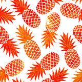 Watercolor Vintage pineapple seamless Stock Photography
