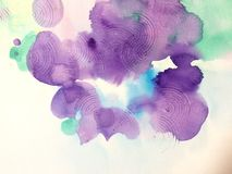 Watercolor violet Stock Image