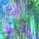 Watercolor violet and blue fluid texture. Watercolor violet and blue, green  fluid texture stock illustration
