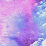 Watercolor violet and blue texture. Watercolor violet and blue texture stock illustration