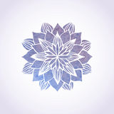 Watercolor violet lace pattern. Vector element. Mandala Stock Photography