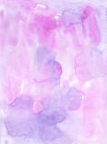 Watercolor  violet  monochromatic handiwork wash  painting color Stock Photography
