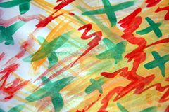 Watercolor vivid abstract background, colorful image Royalty Free Stock Photo