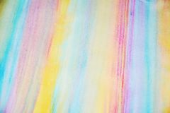 Watercolor vivid pastel paint and muddy strokes of brush, backgrounnd Stock Photos